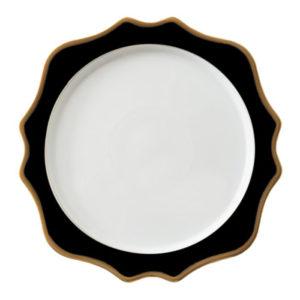black-gold-talerz-chargrowy-porcelana-zastawa-stołowa-sunflowers-home-story-atelier-klasycznie-pieknych-wnętrz