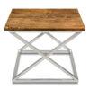 Stoliczek boczny X Cross Silver Wood | 55x55x45cm