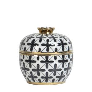 Ceramiczne puzdereczko dekoracyjne Ambiente white Home Story Atelier