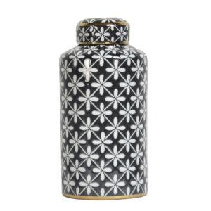 Ceramiczny pojemnik dekoracyjny Ambiente black Home Story Atelier
