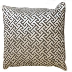 poduszka welurowa z takniny tapicerowanej