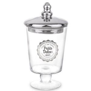 szklana szkatułka ze srebrnym wieczkiem