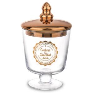 szklana szkatułka ze złotym wieczkiem